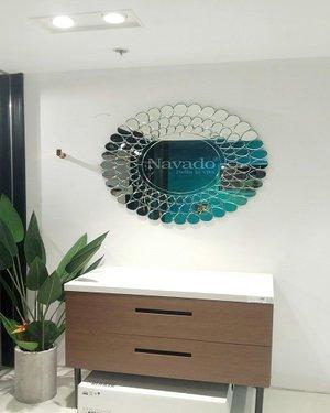 Gương bỉ decor phòng khách cao cấp
