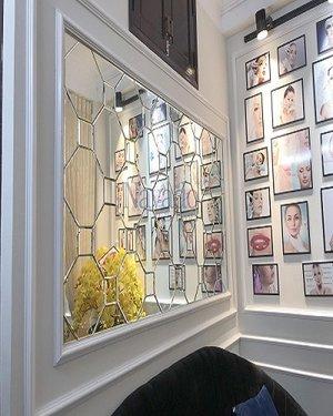 Gương bỉ ghép trang trí cho spa