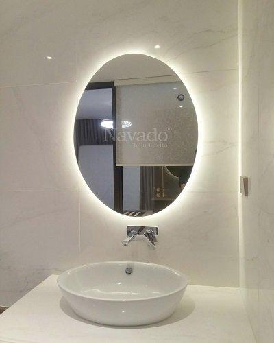 Gương đèn led cao cấp trang trí phòng tắm phôi bỉ