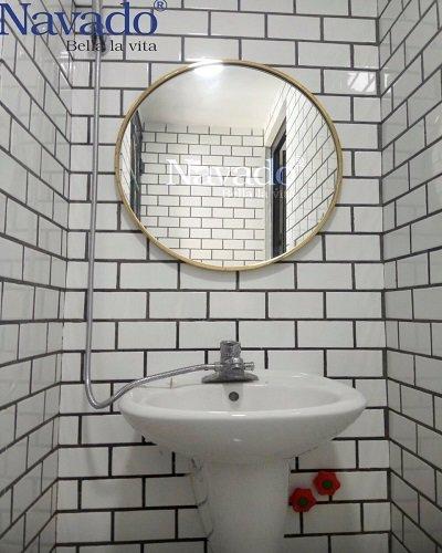 Gương khung inox mạ pvd cho phòng tắm