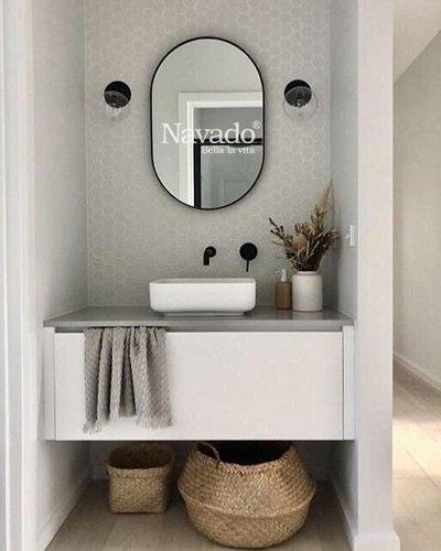 Gương phòng tắm vành thép không gỉ