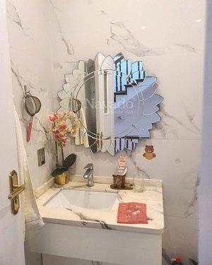 Gương nghệ thuật cao cấp trang trí phòng tắm phôi bỉ