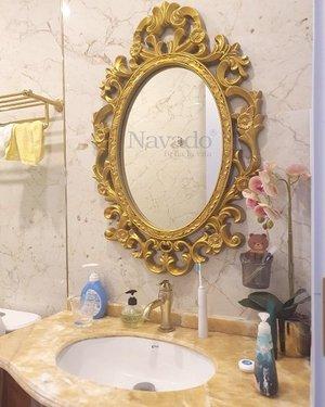 Gương trang trí tân cổ điển cho phòng tắm